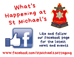 Whats Happening at St MichaelsWhats Happening at St Michaels Facebook Link